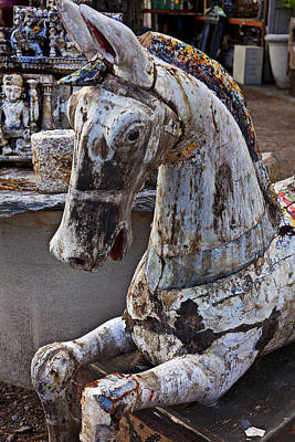 Horse Ears Photograph - Junkyard Horse by Garry Gay