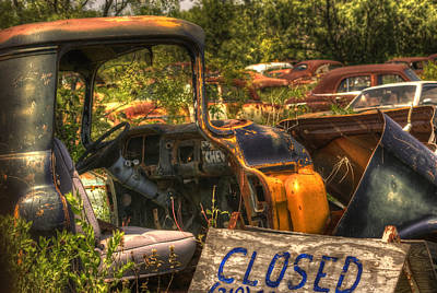 Wrecking Yard Photograph - Junkyard Is Closed by Beth Gates-Sully