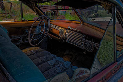 Photograph - Junkyard Packard by Thomas Hall