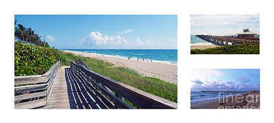 Photograph - Juno Beach Florida Seascape Collage 3 by Ricardos Creations