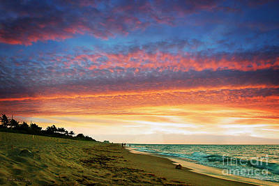 Juno Beach Florida Sunrise Seascape D7 Art Print by Ricardos Creations