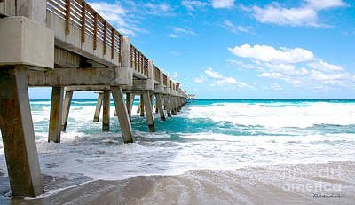 Photograph - Juno Beach Pier Florida Seascape B1 by Ricardos Creations