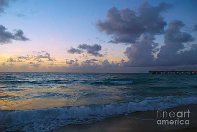 Photograph - Juno Beach Pier Florida Sunrise Seascape C8 by Ricardos Creations