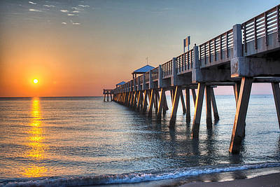 Photograph - Juno Beach Pier by Mike Sperduto