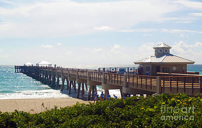 Photograph - Juno Beach Pier Treasure Coast Florida Seascape C5 by Ricardos Creations