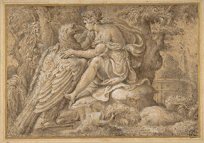 Drawing - Jupiter And Astraea by Giulio Campi
