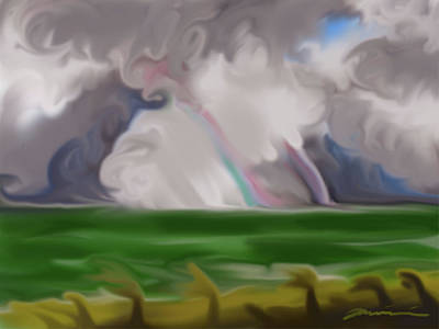 Digital Art - Jupiter Beach After The Storm by Jean Pacheco Ravinski