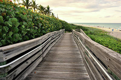 Photograph - Jupiter Beach Walk by Laura Fasulo