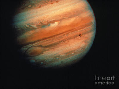 Photograph - Jupiter, Europa, & Io by Granger