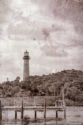 Photograph - Jupiter Inlet Light, Florida Vintage by Kay Brewer