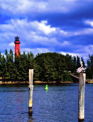Jupiter Inlet Photograph - Jupiter Inlet Lighthouse by L O C