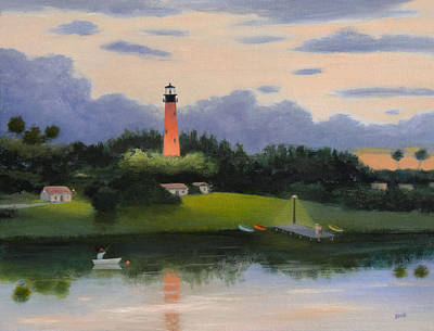 Painting - Jupiter Light, Florida by Gordon Beck