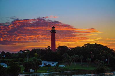 Photograph - Jupiter Lighthouse Amazing Color by Ken Figurski