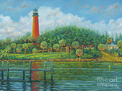 Jupiter Lighthouse Art Print by Danielle Perry