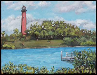 Edward Williams Painting - Jupiter Lighthouse by Edward Williams
