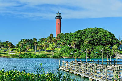 Photograph - Jupiter Lighthouse by Olga Hamilton