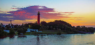 Photograph - Jupiter Lighthouse Panoramic by Ken Figurski