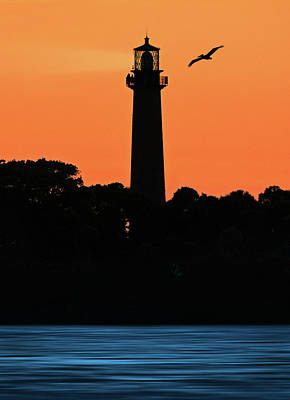 Photograph - Jupiter Lighthouse Silhouette by Justin Kelefas