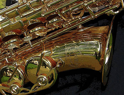 Photograph - Jupiter Saxophone by Michelle Calkins