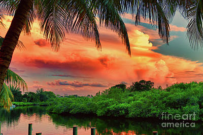 Photograph - Jupiter Sunset, Florida by Olga Hamilton