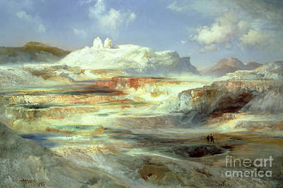 Yellowstone National Park Painting - Jupiter Terrace by Thomas Moran