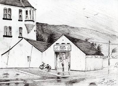 Seagull Drawing - Jura Race Start Whiskey Distillery by Vincent Alexander Booth