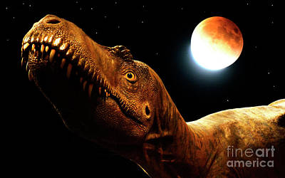 Photograph - Jurassic Blood Moon by Bob Christopher