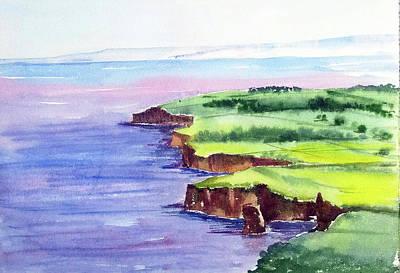 Painting - Jurassic Coast by Asha Sudhaker Shenoy