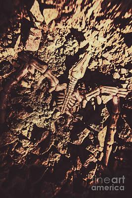 Jurassic Grave Art Print