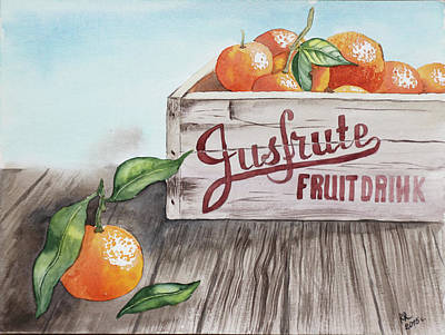 Tangerines Drawing - Jusfrute by Marina Radyshevskaya