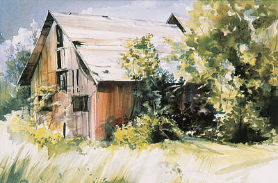 Painting - Just A Barn In Time by P Anthony Visco