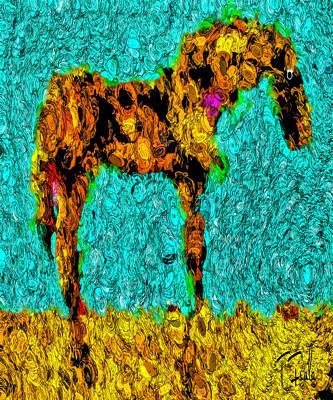 Digital Art - Just A Bit Outside Of Santa Fe by Terry Fiala
