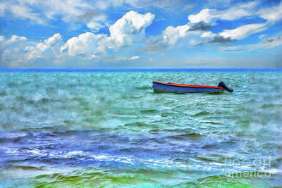 Digital Art - Just A Boat On The Outer Banks Ap by Dan Carmichael