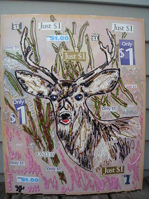Painting - Just A Buck by Lisa Piper
