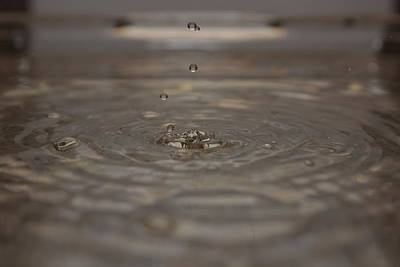 Art Print featuring the photograph Just A Drop by Michael Albright
