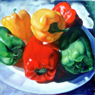 Painting - Just A Family Of Peppers by Shannon Grissom