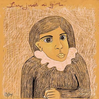 Digital Art - Just A Girl by Caroline Street