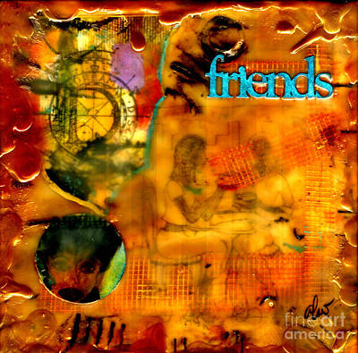 Mixed Media - Just A Little Chat About Dreams And Things by Angela L Walker