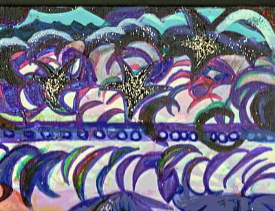 Just A Little Night Mosaic Art Print by Anne-Elizabeth Whiteway