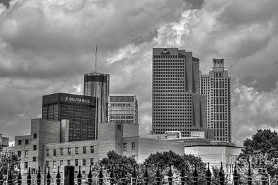 Photograph - Just A Part Bw Atlanta Georgia Art Skyscrapers Cityscape Ar by Reid Callaway