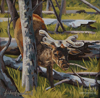 Art Print featuring the painting Just A Peek by Erin Fickert-Rowland