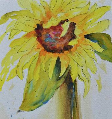 Just A Sunflower Art Print