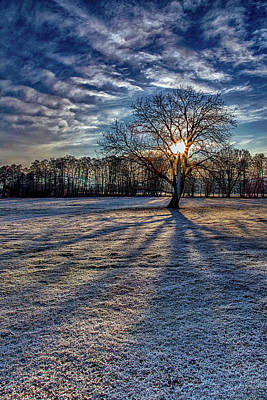 Just After Sunrise On A Cold Morning Art Print