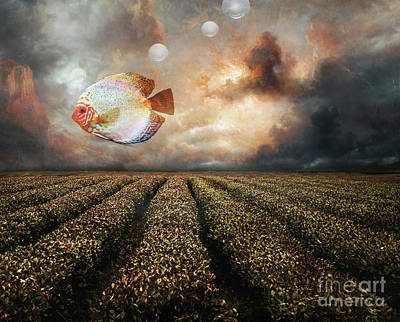 Surrealism Mixed Media - Just an ordinary day by Jacky Gerritsen