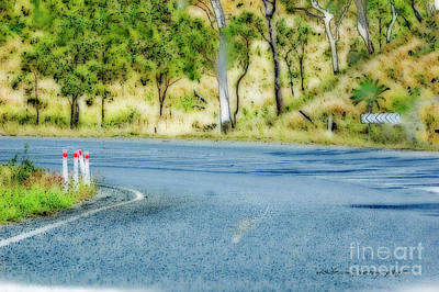Thoughts Digital Art - Just Another Bend In The Road by Vicki Ferrari Photography