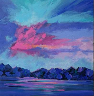 Painting - Just Another Blue Sky by Rosie Sherman