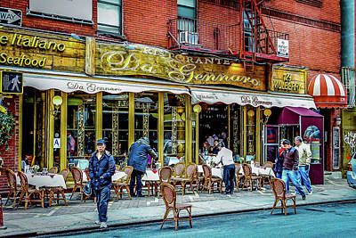 Photograph - Just Another Day In Little Italy Ny by Menachem Ganon