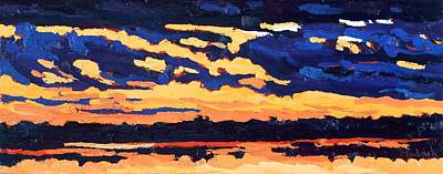 Just Another November Sunset Art Print by Phil Chadwick