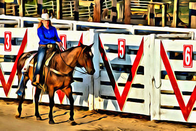 Photograph - Just Another Saturday At The Rodeo by Alice Gipson