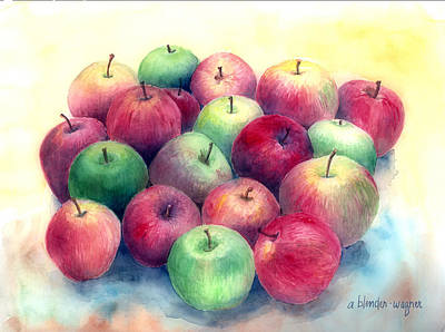 Apple Painting - Just Apples by Arline Wagner